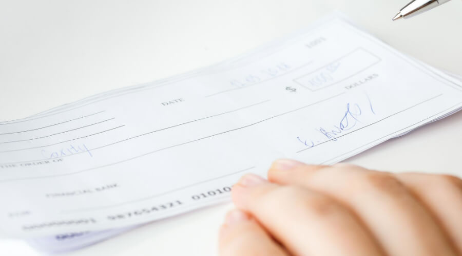 Write The Personal Check To Yourself